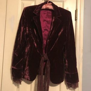 Velveteen Jacket Burgundy